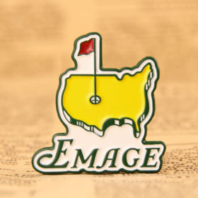 Yellow Map Enamel Pins