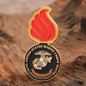 Red Fire Custom Enamel Pins