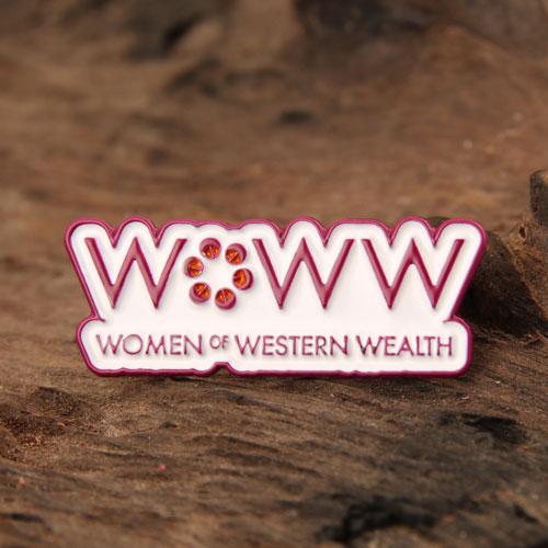Women Wealth Enamel Pins