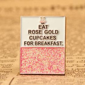 Rose Gold Cupcakes Enamel Pins