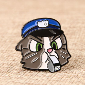 Captain Black Cat Enamel Pins