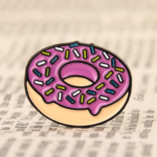 Doughnut Enamel Pins No Minimum