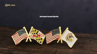 State & USA & World Flag Pins of Reasonable Prices and High Quality!